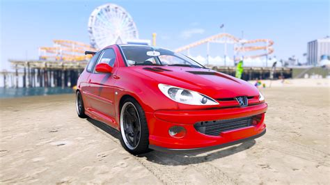 peugeot gti 206 peugeot 206 gti add on tuning oiv gta5 mods com