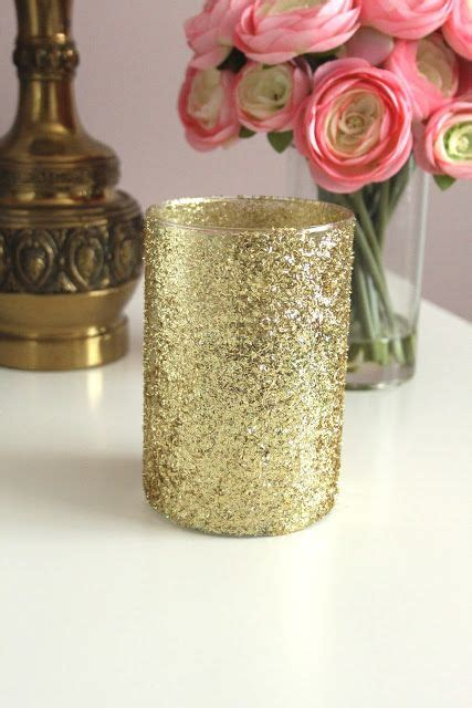 Diy Gold Glitter Vases diy gold glitter vases wedding tables vases glitter and candles