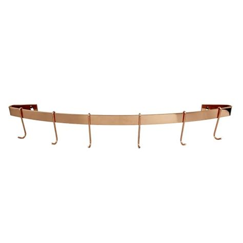 Curved Pot Rack Enclume Copper Curved Wall Rack With Hooks Williams Sonoma