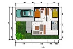 denah rumah minimalis type 36 cantik