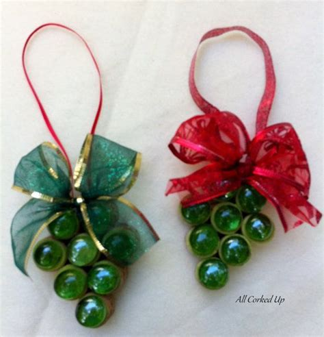 grape ornament by allcorkedup on etsy maybe a wine themed