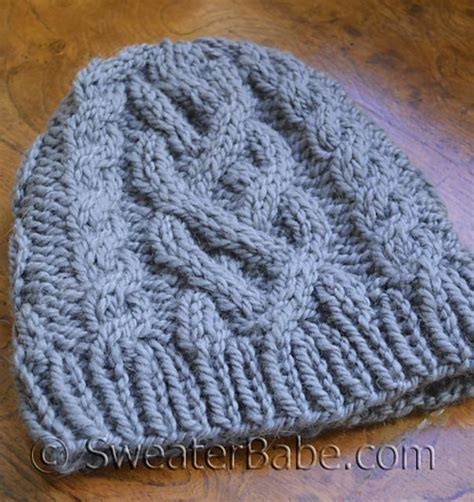 chunky cable knit hat pattern free 183 one chunky cabled hat knitting pattern by