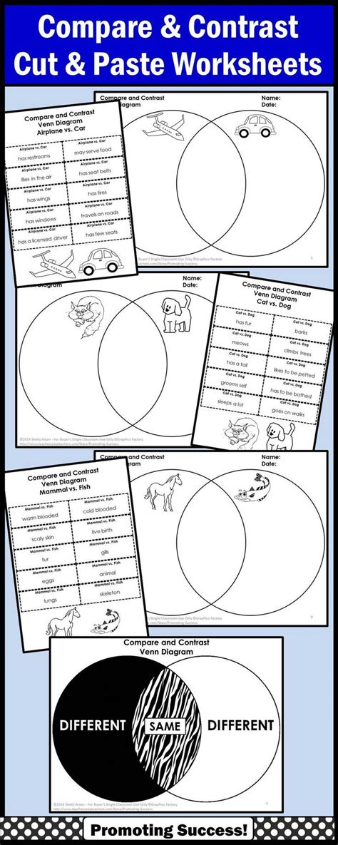 exles of venn diagrams for compare and contrast compare and contrast graphic organizer venn diagram writing worksheets venn diagram worksheet