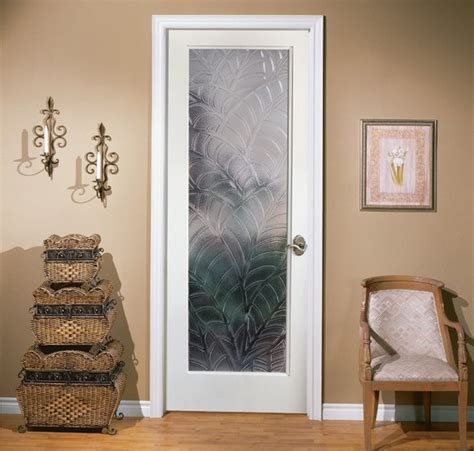 Interior Single French Door Ideas That Will Make Your Room Decorative Etched Glass Interior Doors