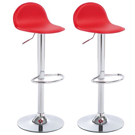 2 x bar stools faux leather breakfast kitchen swivel stool 2 x bar stools faux leather kitchen breakfast chrome