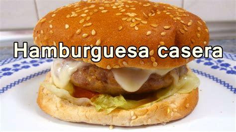 cosas faciles de cocinar hamburguesa casera facil recetas de cocina faciles