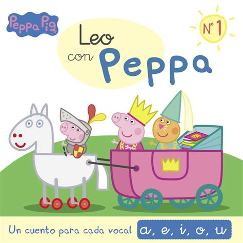 peppa pig leo con peppa 1 un cuento para cada letra a e i o u vv aa libro en papel