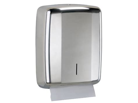 stainless steel hand towel folded paper dispenser
