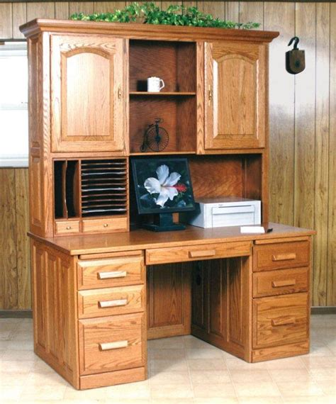 Amish Flat Top Computer Desk With Hutch Computer Desks With Hutch