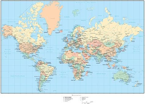 world map cities major cities of the world map