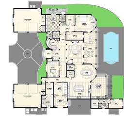 Luxury Home Floorplans villa floor plans private pool plan