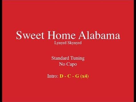 sweet home alabama easy guitar chords and lyrics