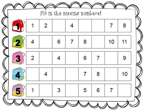 number pattern games year 1 fill in the missing numbers