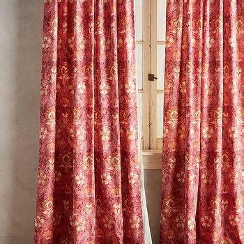 red print curtains window treatments products bookmarks design