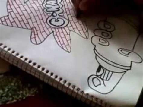 imagenes de c kan para dibujar faciles como hacer un graffiti de c kan en papel youtube
