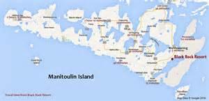 map of manitoulin island ontario canada black rock resort manitoulin island