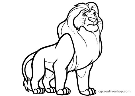 coloring book effect simba il re disegno da colorare