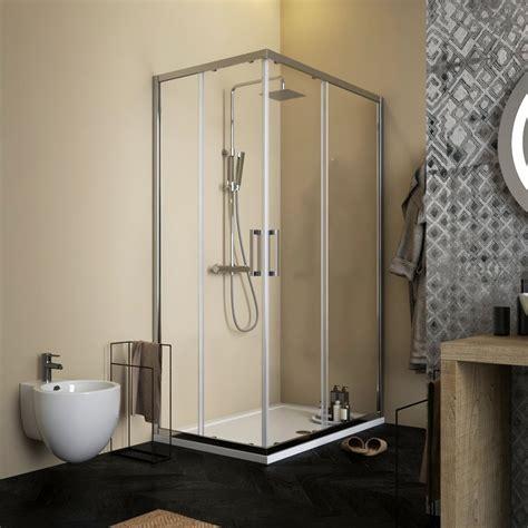 box doccia trasparente box doccia profili cromati 70x90 cristallo anticalcare
