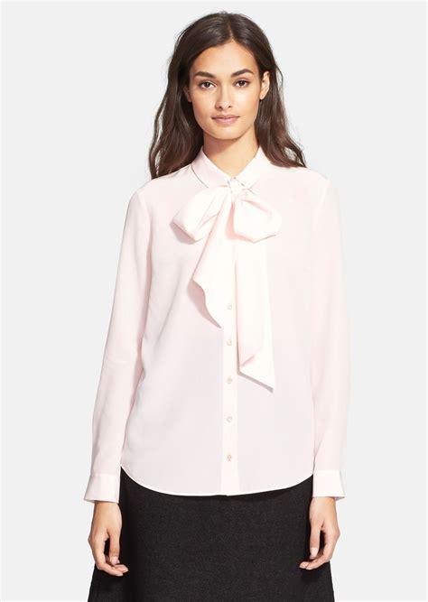 Blouse Atasan New York kate spade new york evi silk blouse collar blouses