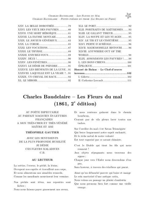 poeme xxvii baudelaire