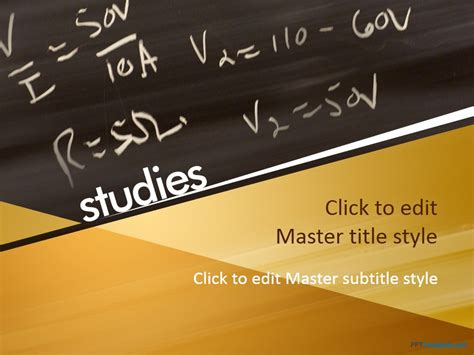 math powerpoint templates for teachers free educational chalkboard ppt template