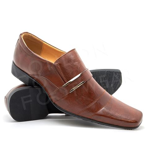 new mens italian style formal wedding slip on shoes smart