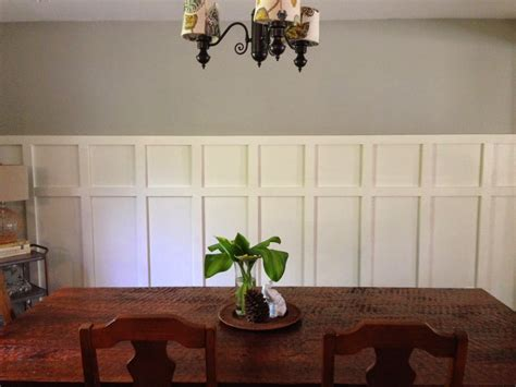 pictures of wainscoting in dining rooms home made modern square wainscoting in the dining room