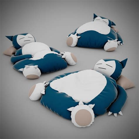 snorlax bed 3d model snorlax bed cgtrader