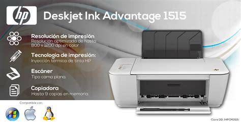 Tinta Printer Hp Deskjet Ink Advantage 1515 Impresora Multifuncional Hp Deskjet Ink Advantage 1515