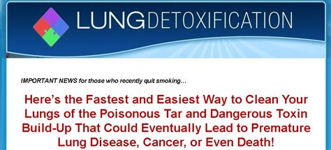 How To Detox Your Lungs After Quitting by Lung Detoxification Review How This Book Helps