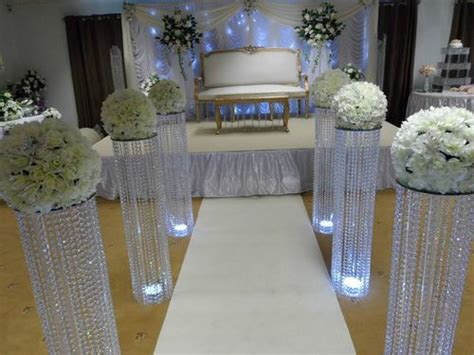 Wedding Aisle Pedestal by 3 Iridescent Wedding Aisle Decoration Pillars