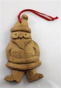 hand carved wooden christmas ornament bearded elf rustic