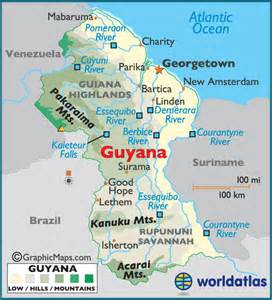 map of guyana south america guyana large color map