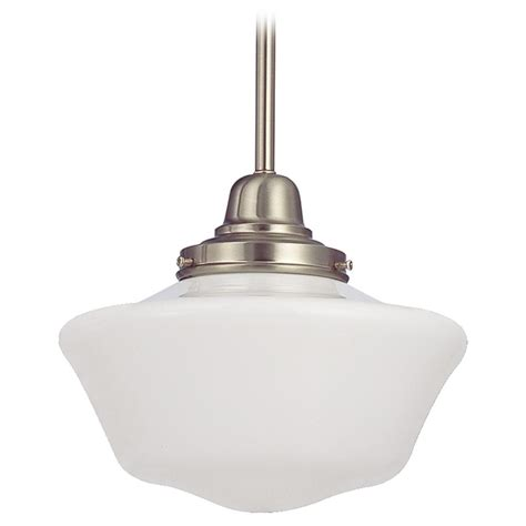 schoolhouse mini pendant light 10 inch satin nickel schoolhouse mini pendant light fb4
