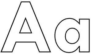 Set Aa Black White letter a clipart cliparts galleries