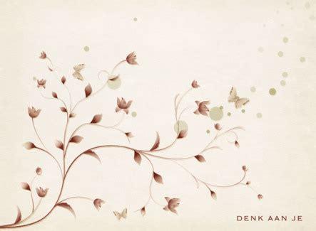 achtergrond bloemen rustig groetjes doen nl condoleance kaarten