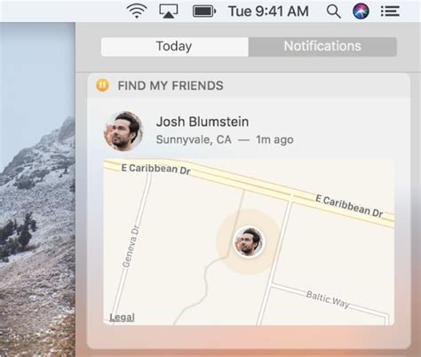 How To Add On Find My Friends Use The Find My Friends Widget On Mac Apple Support