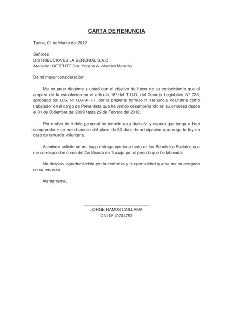 liquidacion renuncia voluntaria 2016 notizie24 carta de renuncia