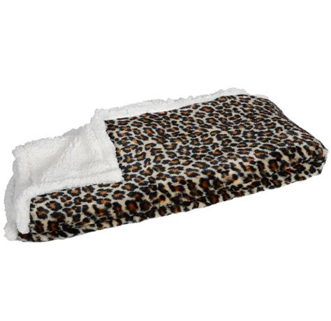 animal print leopard blanket throw reversible home bed