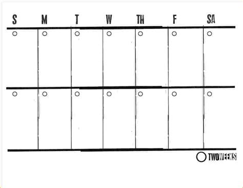 2 week calendar template word business proposal