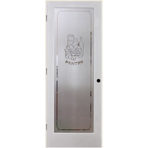 Prehung Glass Pantry Door by Shop Reliabilt Pantry Solid Frosted Glass Single Prehung Interior Door Common 24 In X 80