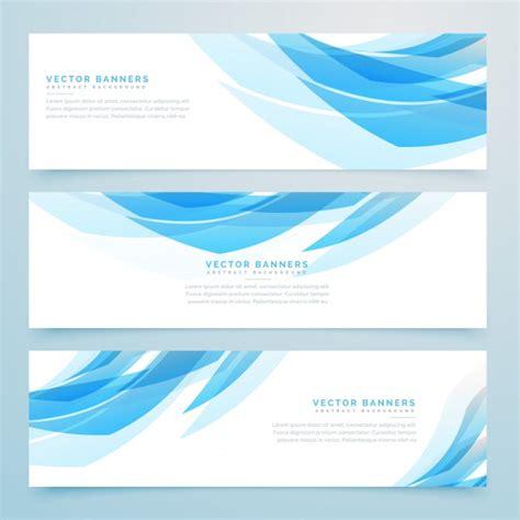 Set Blue Abstrak abstract light blue banners set vector free