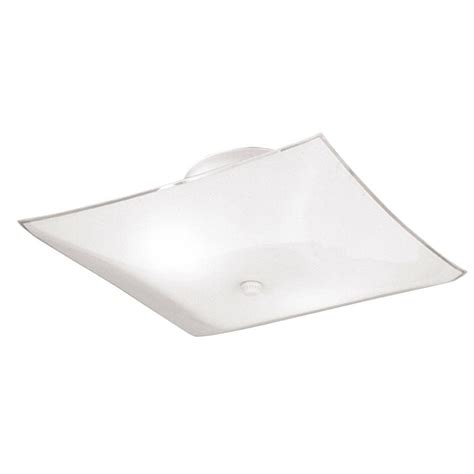 Flush Glass Ceiling Light Westinghouse 2 Light White Interior Ceiling Semi Flush Mount Light With White Glass 6620100