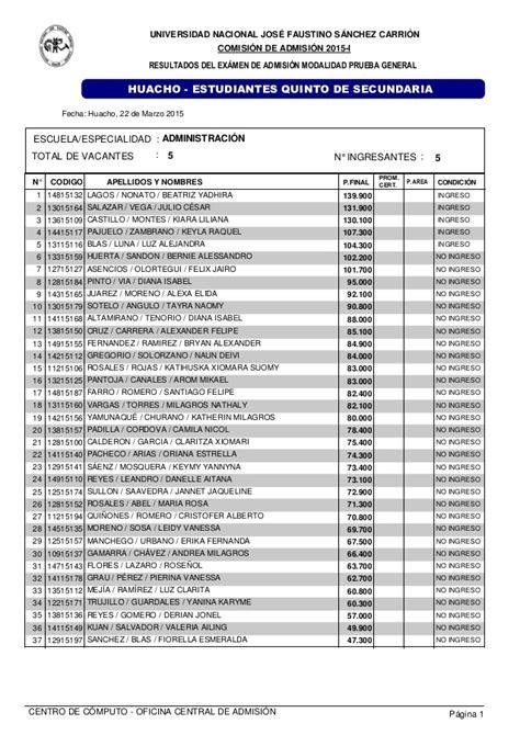 Resultados Examen De Admision Unjfsc Modalidad Ordinario 2015   resultados examen de admision unjfsc modalidad ordinario