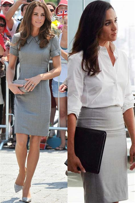 kate middleton  meghan markles matching outfits kate