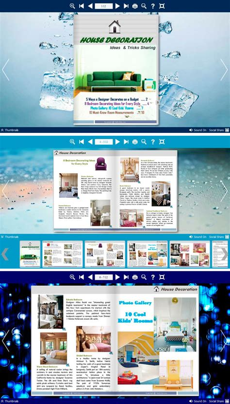 download themes builder flipbook themes package neat blue full windows 7