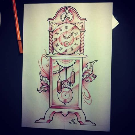 family heirloom tattoo the 25 best grandfather clock tattoo ideas on pinterest