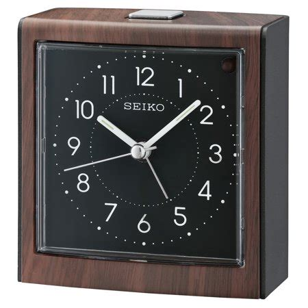seiko contemporary bedside alarm clock  dial light