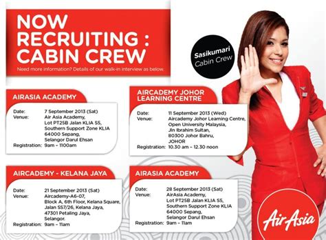 airasia walk in interview airasia cabin crew walk in interview
