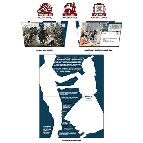 8 5x5 5 Postcard Template by Folded Uv Coated 1s Postcard 8 5x5 5 Folded 8 Pt